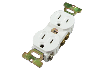 Electrical Straight Blade Duplex Receptacle LK3224F