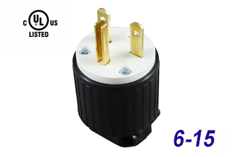 NEMA 6-15 Straight Blade Plug, 3 Prong Electrical Plug LK7615P  Prong Electrical Plug Wiring on