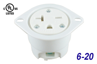 Industrial Grade Straight Blade Flanged Outlet Receptacle